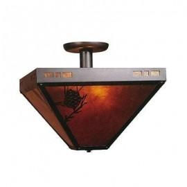 "Mica Lamp Company 112 Pasadena Drop Ceiling 14"""