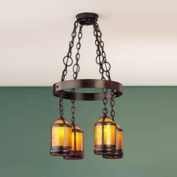 Mica Lamp 132 Craftsman Hoop Chandelier